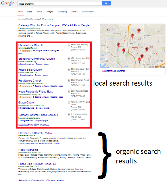church websites for local seo churchfinder com