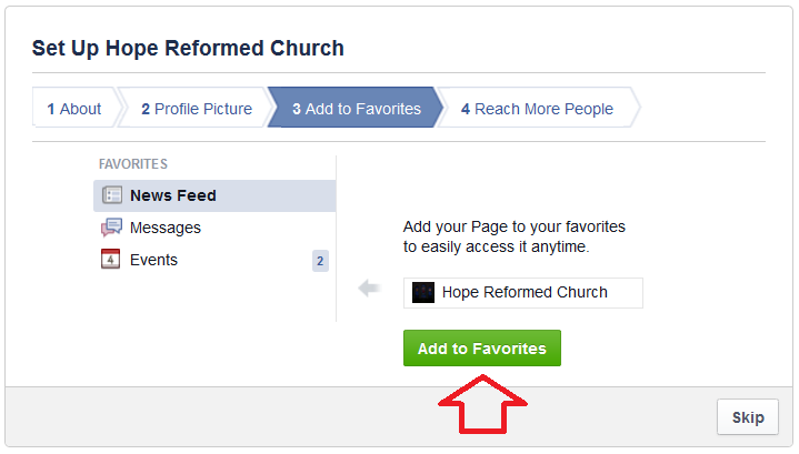 how to create facebook page for church